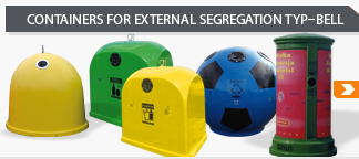 plastic containers for segregation type-bell